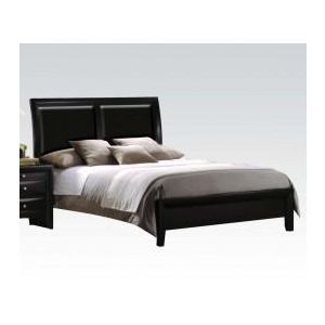 Ireland Black PU EA-King Bed