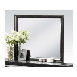Manjot Black PU Mirror