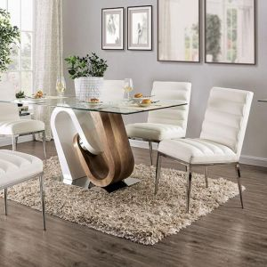 Cilegon White Natural Tone Table