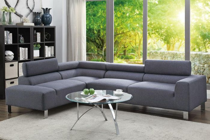 Enjoyable Poundex 2 Pcs Sectional Sofa F7315 Inzonedesignstudio Interior Chair Design Inzonedesignstudiocom