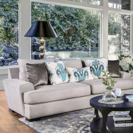 Renesmee Gray Silver Blue Sofa
